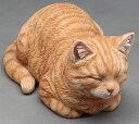 ねこの置物 ガーデニング ガーデンオーナメント 置物 オブジェ インテリア かわいい 雑貨 樹脂 猫 ネコ 動物 ディスプレイ 【 香箱ねこ 】