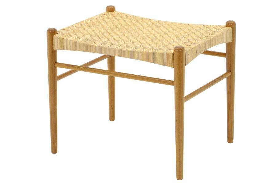 CHLOROSクロロス Rattan スツール【スツール 椅子 北欧家具 デザイン チーク無垢材 チーク材 天然木 おしゃれ シンプル 高品質 おすすめ】
