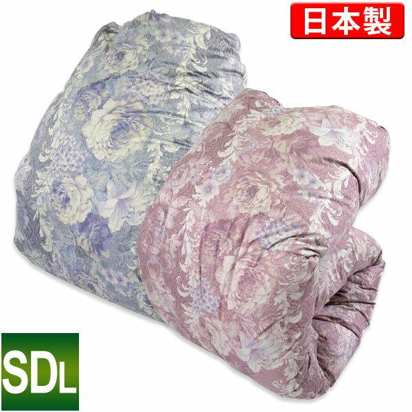 羽毛布団【モアレ】ポーランド産WGD93%[セミダブルロング/軽量]日本製羽毛掛けふとん/ホワイトグースダウン