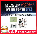 B.A.P はがきセット LIVE ON EARTH SEOUL 2014 bap公式グッズ bapグッズ マトキ B.A.P