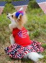 【Make A Tail Wag】Patriotic Doggie Dress ワンピース セレブ愛用 犬服 ペット 小型犬 セレブ犬