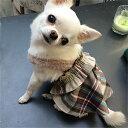 新作【Louis Dog ルイスドッグ】ワンピース セレブ 小型犬 犬服 CHRISTMAS DRESS ドレス