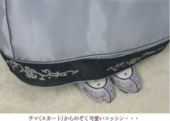 チマチョゴリ韓服の靴 タンポポ刺繍コッシン 1...の紹介画像2