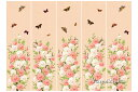 韓国100日のお祝い用屏風の様な背景幕・牡丹と蝶(薄ピンク)■tolback-7-s【ギフト】【御百日祝】【誕生祝】