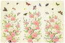 韓国100日のお祝い用屏風の様な背景幕・牡丹と蝶(ベージュ)■tolback-9-s【ギフト】【御百日祝】【誕生祝】