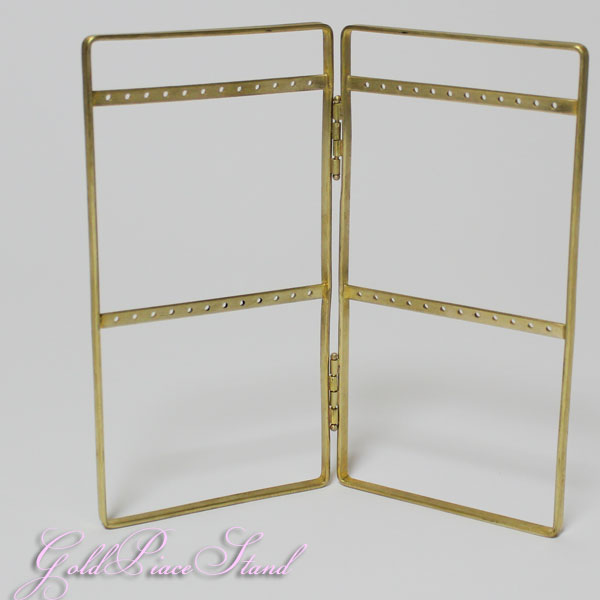 ゴールドカラー ブラス ピアススタンド 307295 =(ac)メール便送料無料 真鍮 アクセサリー =