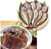 ★A large satisfactory set of (s005) Tosa! (the eel kabayaki which I baked in Shimanto-cho and an unrivaled article set striking the set )★※ eating a food with great relish of the sweetfish!)