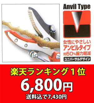 ★ scissors cut branches ( fretten cutting shears ) ARS Ars 184ZKA-3.0-5D, ズームチョキ K ★ branches cut scissors