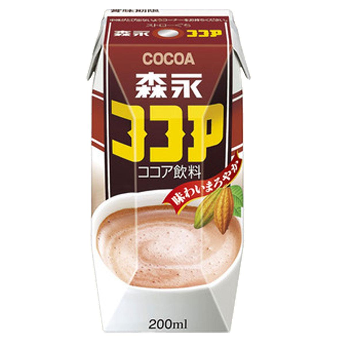 【2点購入で送料無料】 森永ココア (紙パック) 200ml×12本