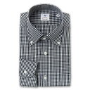 ショッピングD90 CHOYA Classic Style 長袖 ワイシャツ メンズ 春夏秋冬 綿100% ブラック ホワイト ギンガムチェック ボタンダウンカラー  | 綿:100%