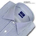 【日清紡アポロコット】長袖・ペンシルストライプ・ワイドカラー・ドレスシャツ綿100%形態安定・CHOYAシャツ(cfd921-455)