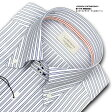 ★新商品★LORDSON CONTEMPORARY綿100% 形態安定加工 標準体ネイビーストライプ・ドゥエボットーニ・ドレスシャツLORDSON Contemporary(zod234-455) 10P18Jun16