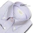 ★新商品★LORDSON CONTEMPORARY綿100% 形態安定加工 標準体ダブルストライプ・ドゥエボットーニ・ドレスシャツLORDSON Contemporary(zod235-410) 10P18Jun16