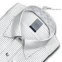 LORDSON 長袖 ワイシャツ メンズ 綿100% 形態安定加工 標準体 ピンストライプ スナップダウンシャツ ドレスシャツ | 高級 上質 (zod70..