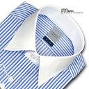 ★新商品★LORDSON綿100% 形態安定加工 標準体ロンドンストライプ・クレリックシャツ(zod910-450) 02P01Oct16