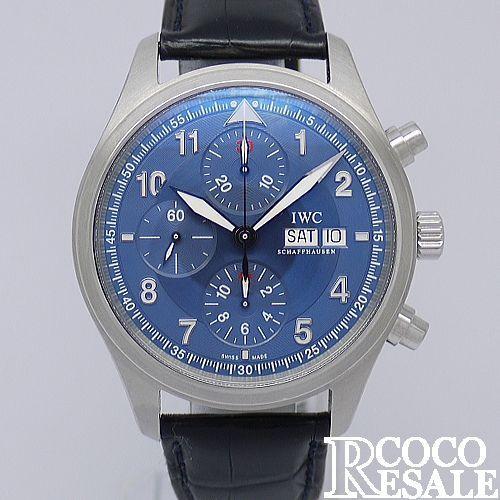IWC クロノグラフ ローレウス パイロットウォッチ [IW371712]【】【腕時計】【送料無料】 日常使用に伴う小傷、擦れはございますが全体的には綺麗な状態です。