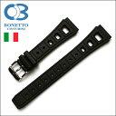 バネ棒付き 時計 ベルト 腕時計 イタリア BC ボネットシンチュリーニ 295 ラバー素材 ストラップ ダイバーズ 20mm ブラック