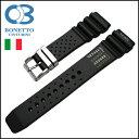 バネ棒付き 時計 ベルト 腕時計 イタリア BC ボネットシンチュリーニ 286SN-nd ラバー素材 ストラップ ダイバーズ 22mm ブラック