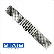 HERMANN STAIB(ドイツ製)プッシュ式バックル メッシュ・ブレスレット 18mm20mm22mm24mm 腕時計用・時計ベルト・時計バンド【送料無料】【メンズ】
