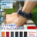 時計 ベルト◆HIRSCH Carbon...