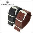◆MARATHON Leather NATO Strap マラソン レザーナトーストラップ 腕時計用・時計ベルト・時計バンド 20mm 22mm【あす楽対応】【送料無料】【メンズ】【腕時計】【ミリタリーウォッチ】【クロノワールド】
