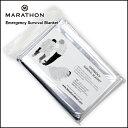 防災グッズ 防寒 耐寒 MARATHON Emergency Survival Blanket エマージェンシー サバイバルブランケット