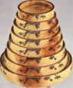 D.Xタイコ型すし桶 花梨ブドウ 尺2寸【寿司桶】【すし桶】【寿司皿】【すし】【寿し】【鮨】【スシ】【1-477-22】