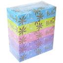 【5箱パック】ハローコンパクトボックスティッシュ 300枚(150組)×5箱 ティシュー ティッシュ
