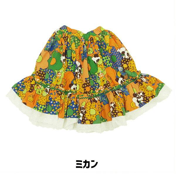 【18AW SALE!】 31820604A チェリッチュ フラワーパッチワークSK スカート 親子コーデ おそろい キッズコーデ ママコーデ リンクコーデ 親子おそろい 女の子 可愛い ギフト プレゼント 秋 冬 子供服