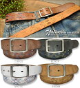 Native stitch ★ cowhide belt♪