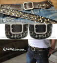 [free shipping] random studs  vintage cowhide belt