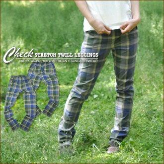 Check ★ stretch twill leggings underwear♪
