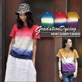 SALE Gerard en * slab tenjiku ★-gradation short sleeve T shirt
