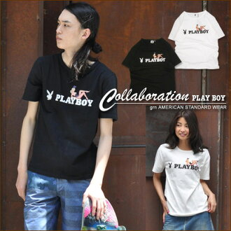 Further price cut! Gerard en SALE * [grn×PLAYBOY] Playboy Bunny ★ collaboration t-shirt