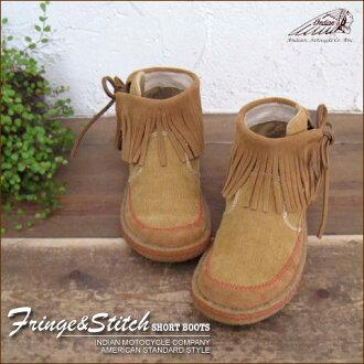 Suede & corduroy ★ fringe short boots!