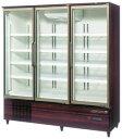 USR-180Z3-B (木目調) ホシザキ リーチイン冷蔵ショーケース ユニット下置き スイング扉タイプ ヒーターなしガラス扉仕様 送料無料