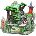 スターライト噴水-迎客松(風水 卓上噴水 ミニ噴水 室内 ライト付き インテリア 小型 クルクル 玉噴水)