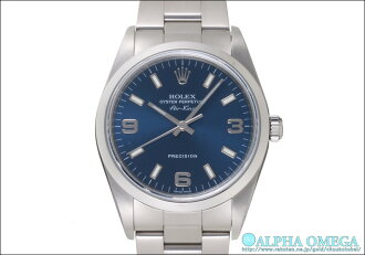Rolex Air-King Ref.14000M blue 369 dial-2001