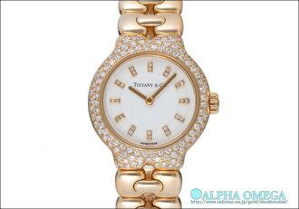 Tiffany Tesoro white 24 P dial YG 1990s