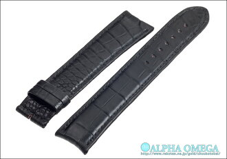 Alpha Omega F. P. Journe for Matt Black crocodile strap made in Japan bespoke luxury watches belts, band Ref.FP01MBK