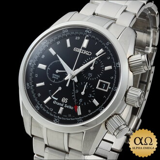 Grand Seiko spring drive chronograph Ref.9R86-0AA0, SBGC003 black dial-2011 master shop limited