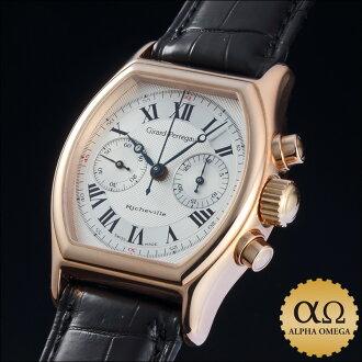 Girard Perregaux Richville chronograph Ref.2710 PG Silver Dial-1990's
