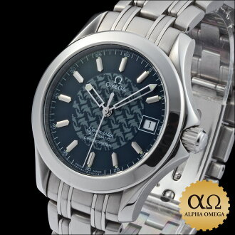 Omega Seamaster 120 m Ref.2500.80 Jacques Mayol dial Blue Dolphin-1997 years the 5000 limited