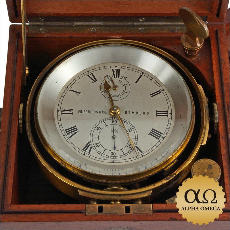 フリードリッヒ  マリンクロノメーター ドイツ ハンブルグ 1942年 置時計【】【アンティーク】【保証無し】 オーバーホール済み委託品値下げしました。398,000円
