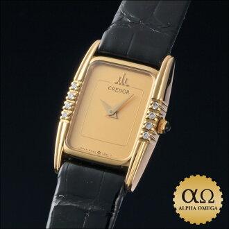 セイコークレドールプレステージ Ref.8240-6330 yellow gold diamond bezel 1984