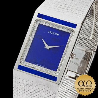 Seiko credor prestige Ref.2F70-5060 GHKF041 dial lapis lazuli-White Gold Diamond Bezel 1988