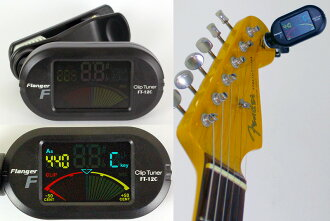 Flanger FT-12C Clip-on Chromatic Tuner color display Clip tuner Flanger clip tuner color screen
