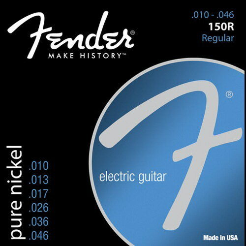 FENDER Original Pure Nickel 150R electric guitar-string fender pure nickel electric guitar strings 10-46