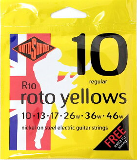R10 ROTOSOUND Roto Yellows Regular electric guitar chords ROTOSOUND electric guitar strings 10-46 gauge regular