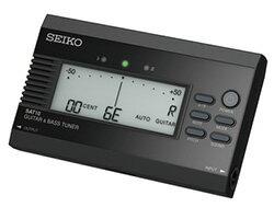 SEIKO SAT10 B guitar & base tuner flat tuning function input & output Jack